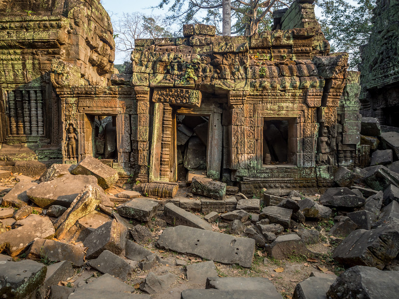 Morning Sunlight on the Ruins Ta Prohm, Angkor