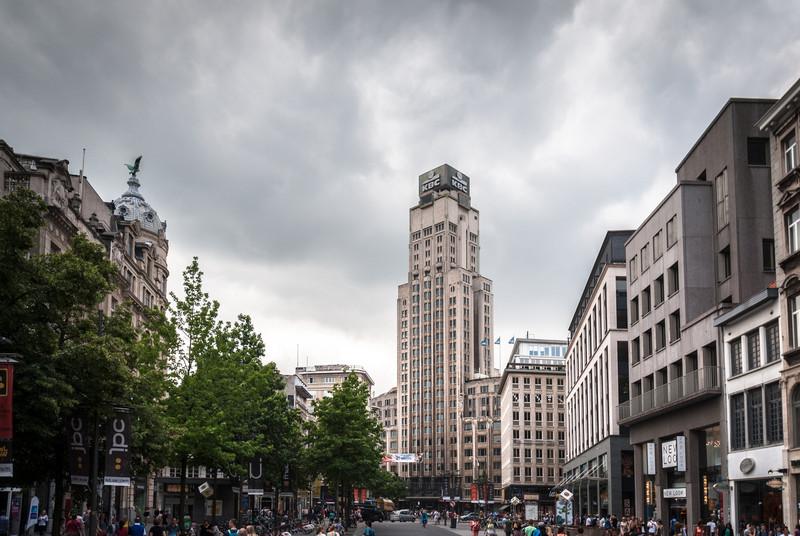 Storm Clouds over the Boerentoren, Antwerp
