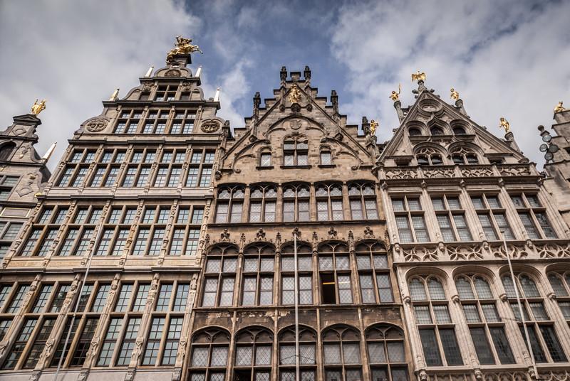 Looking Up on the Grote Markt, Antwerp