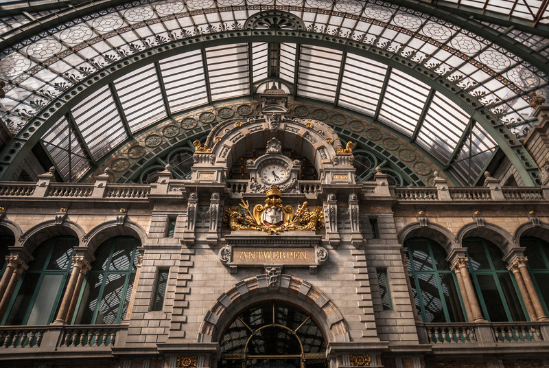 Train Station Clock, Antwerp