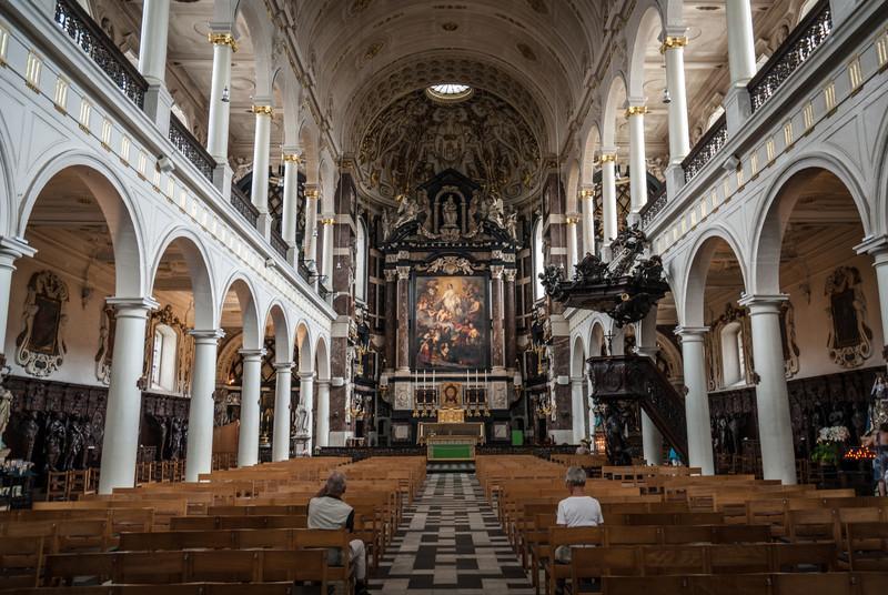 Inside St. Charles of Borromeo, Antwerp