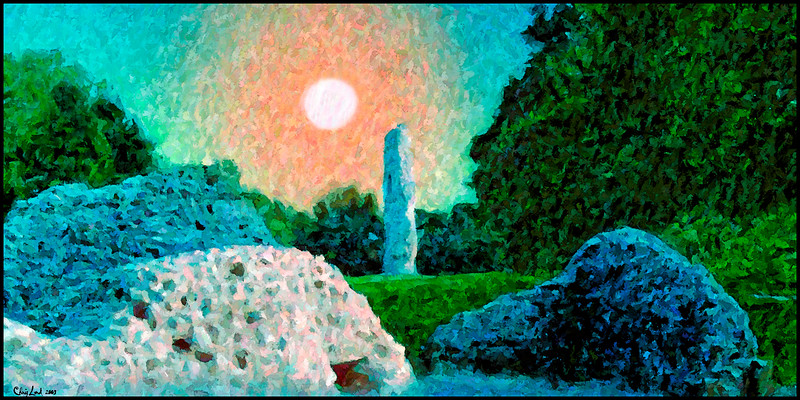 Ruins Of Bramber Castle In The Style Of The Impressionists