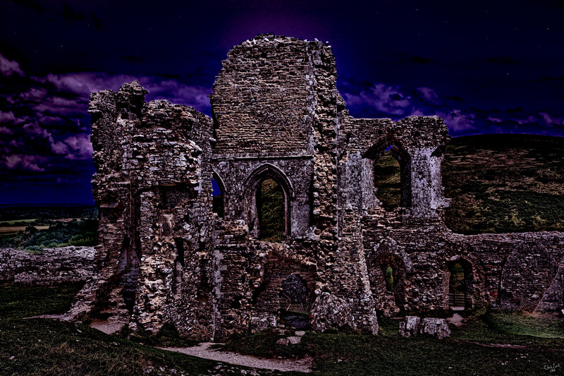 The Chapel Ruins At Dusk (Corfe Castle)