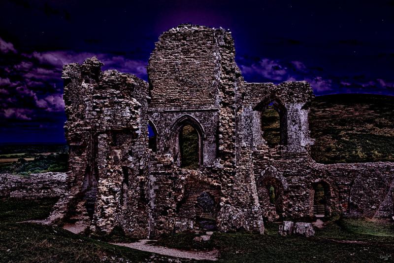 The Chapel Ruins At Dusk (Corfe Castle)