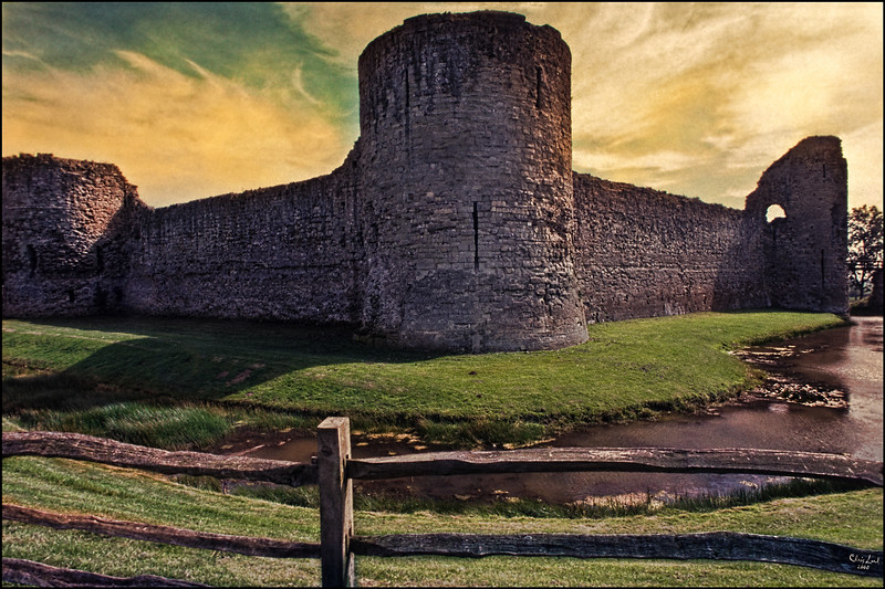 Pevensey Castle In The South Of England