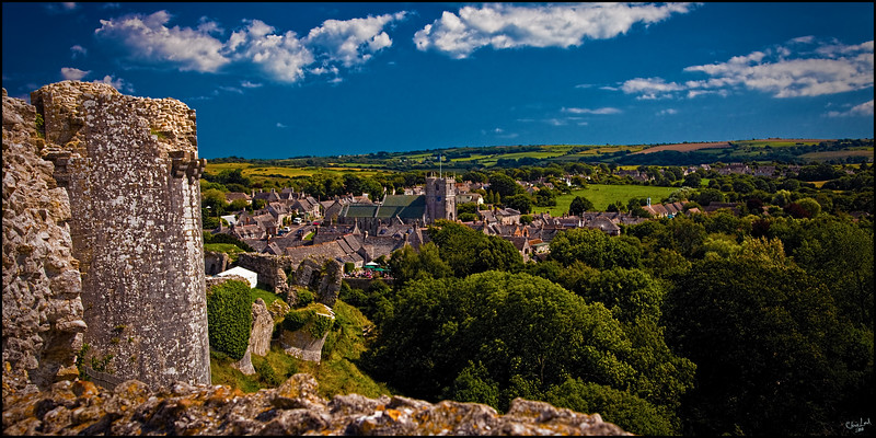 Corfe, A View over Dorset From The Castle Ramparts