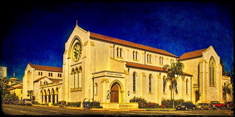 St. Paul's Cathedral, San Deigo, California at Sundown