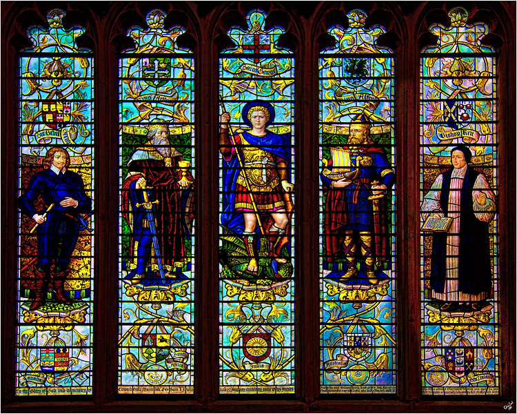 Stained Glass Window, Bath Abbey, Somerset, UK