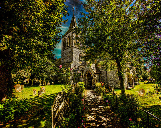 Country Church In Pevensey, West Sussex