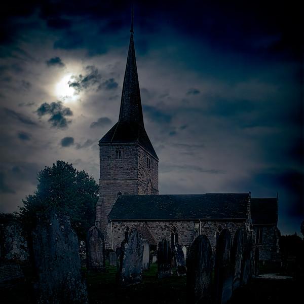 Moonlit Churchyard