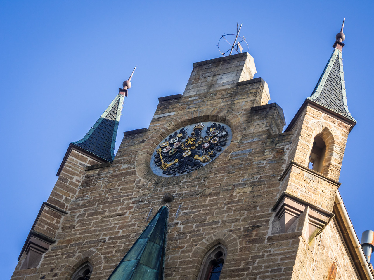 Towers and Coat of Arms, Hohenzollern Castle, Swabia