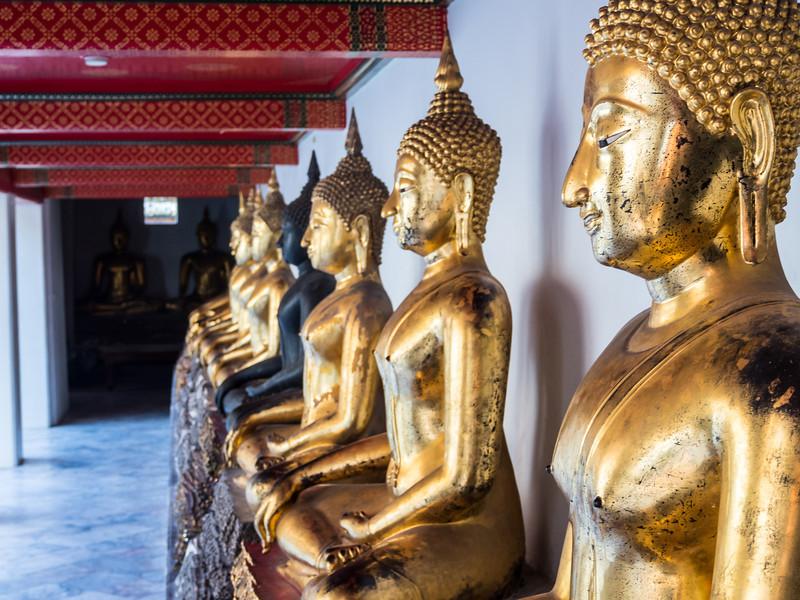 Golden Buddhas, Wat Pho, Bangkok