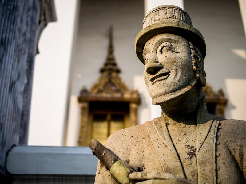 Grinning Statue, Wat Ratchabophit, Bangkok