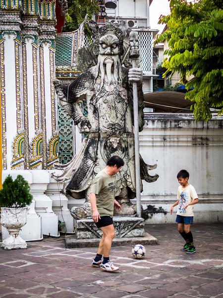 Soccer Game, Wat Pho, Bangkok