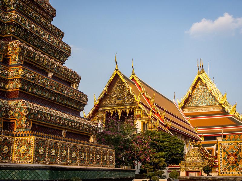 Roofs and Chedi Steps, Wat Pho, Bangkok