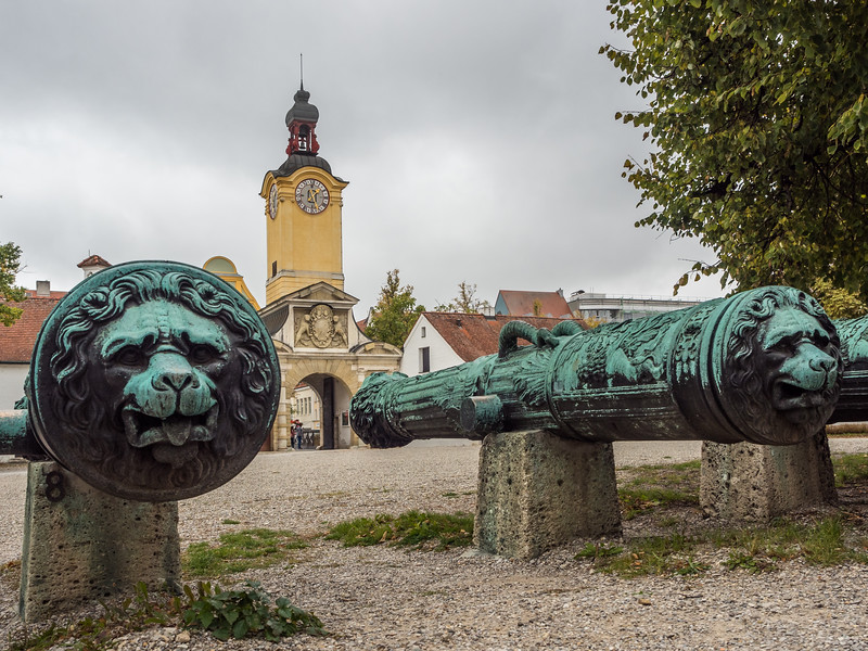 Canons at the Neues Schloss, Ingolstadt, Germany