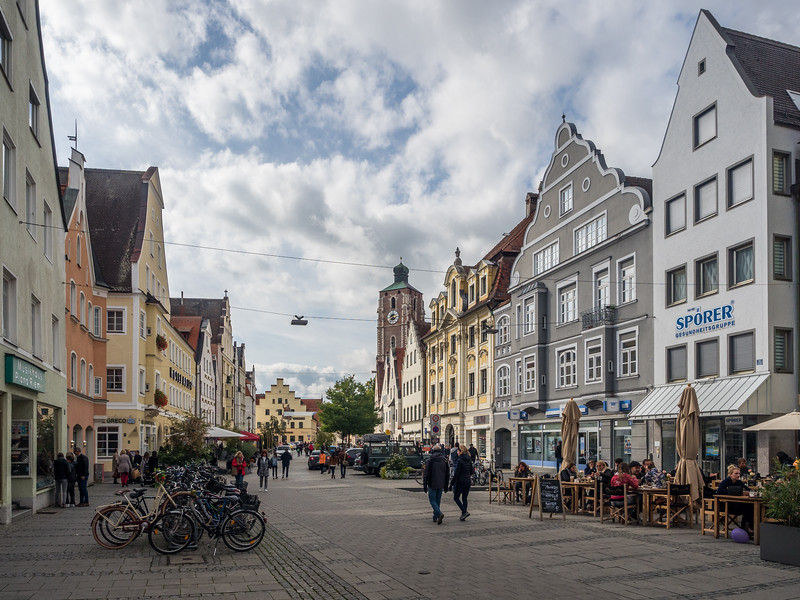 Downtown Street Scene, Ingolstadt, Germany