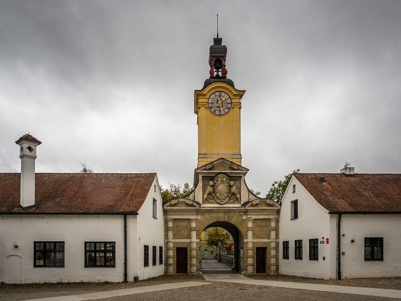 Gateway to the Neues Schloss, Ingolstadt, Germany