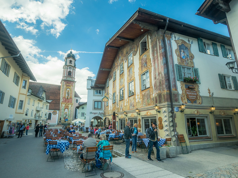 Outdoor Dining in Mittenwald, Germany