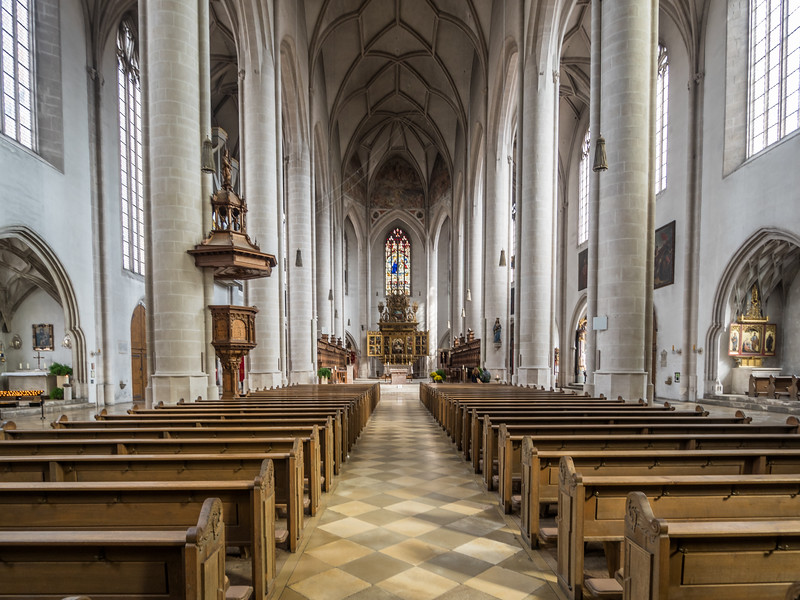 Inside the Liebfrauenmünster, Ingolstadt, Germany