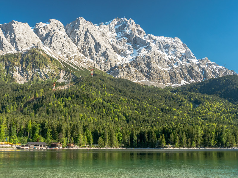 Zugspitze above Eibsee, Germany