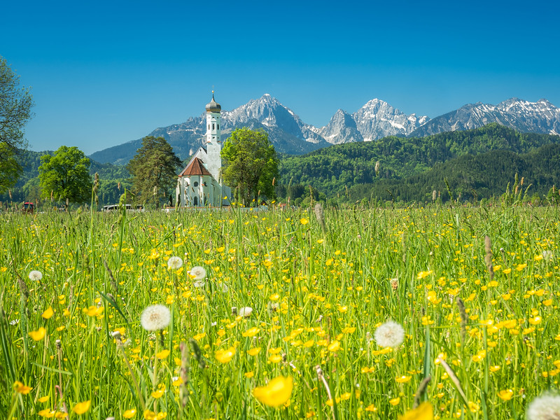 St. Colomon Church in the Field, Schwangau, Germany