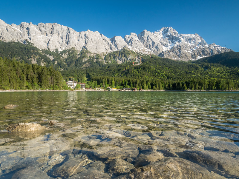 Eibsee and the Zugspite, Germany