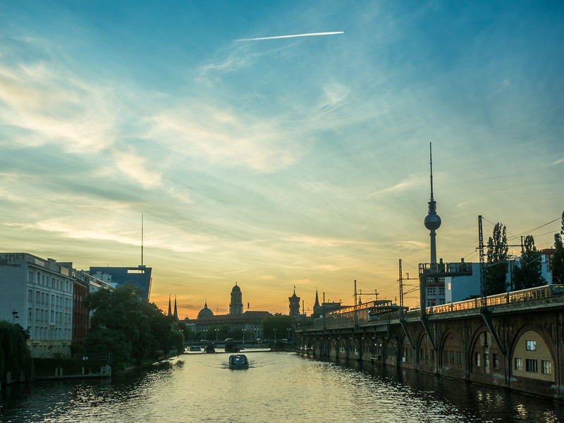 Spree Sunset, Berlin