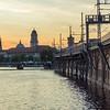 Sunset along the Spree, Berlin