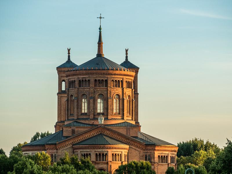 St-Thomas-Kirche at Sunset, Berlin