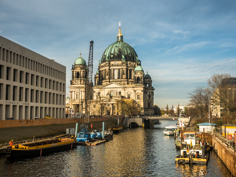Berliner Dom and the Humbolt Forum on the Spree, Berlin