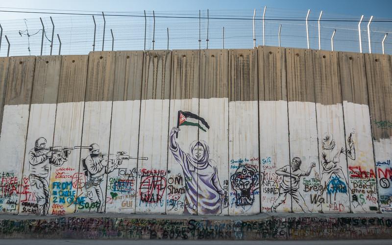 Graffiti on the West Bank Wall, Bethlehem
