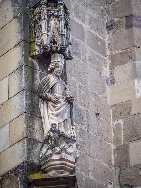 Medieval Figure on the Black Church, Brașov