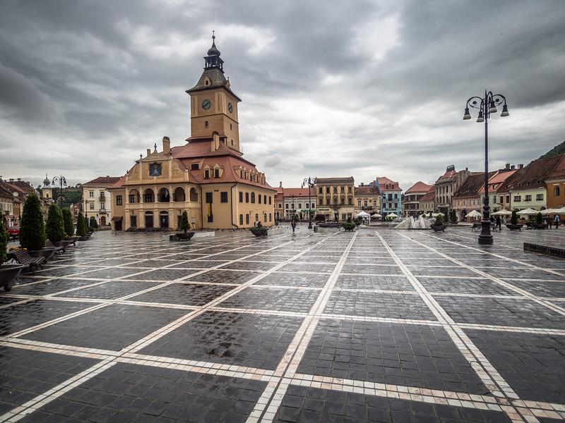 Gray Skies over Piaţa Sfatului, Brașov, Romania