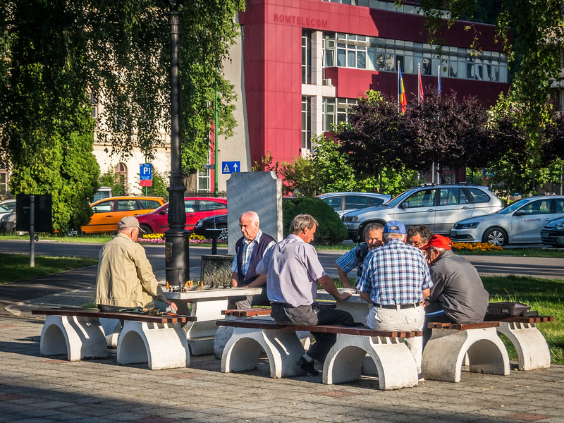 Old Men Playing Chess in the Park, Brașov