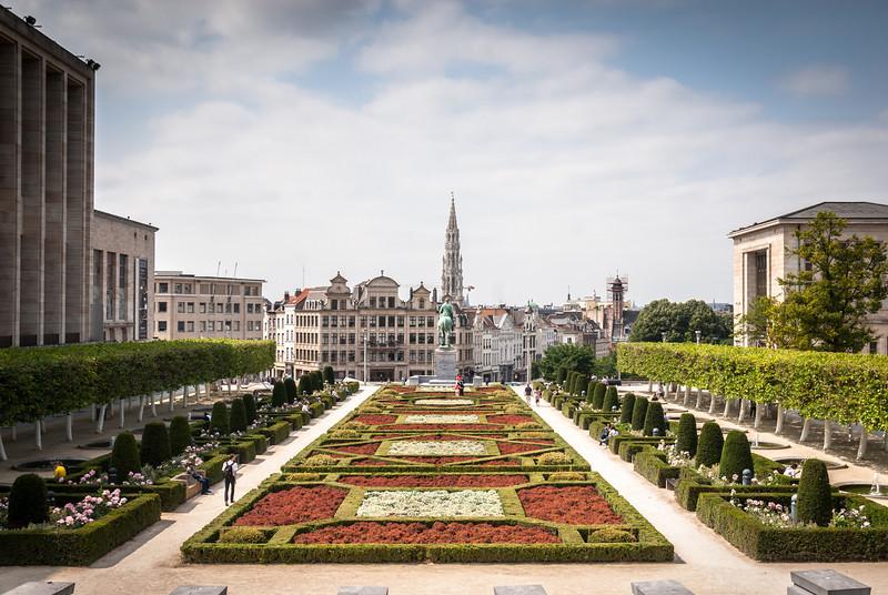 Jardin du Mont des Arts Kunstbergtuin, Brussels