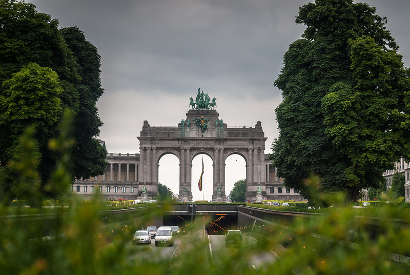Above the Tunnel Cinquantenaire, Brussels