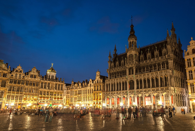 Brussels Town Hall at Night, Belgium
