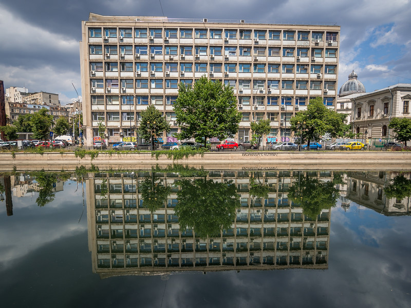 Modern Building Reflected, Bucharest