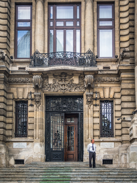 Entrance to the Bank, Bucharest