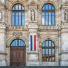 Courthouse Façade, Bucharest, Romania