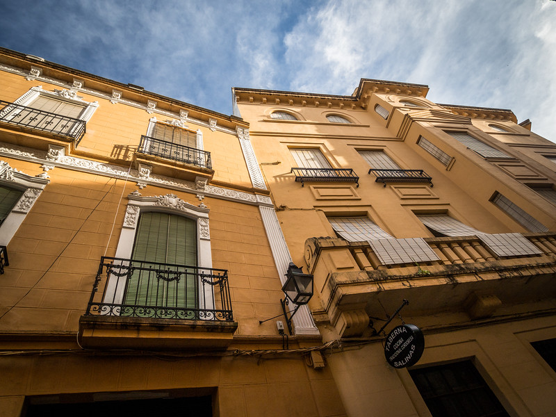 Looking Up in the Side Streets, Córdoba, Spain