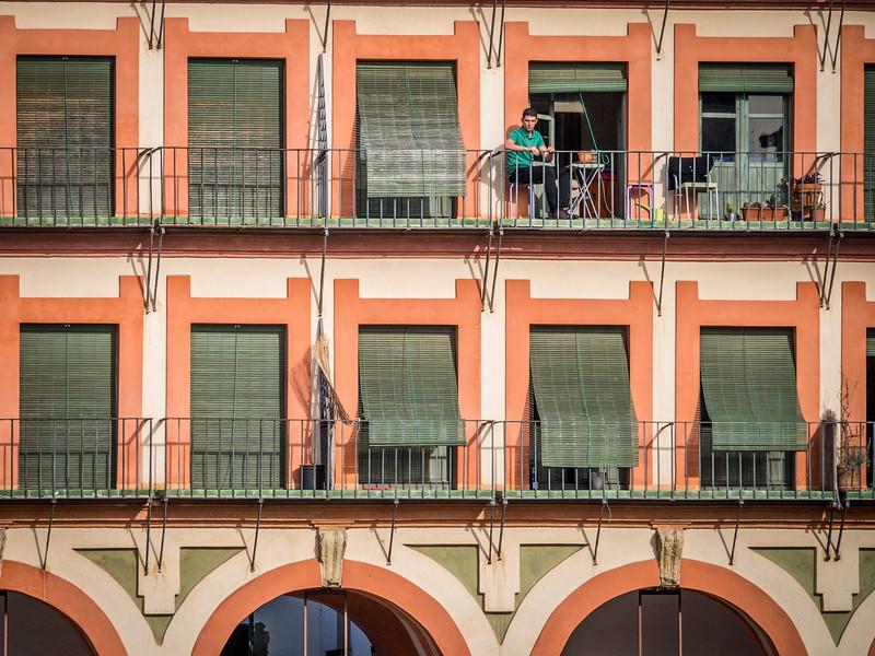 Balcony View of the Plaza de la Corredera, Córdoba, Spain