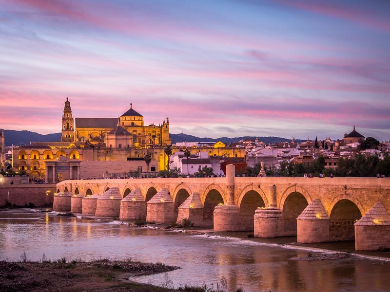Colored Clouds over Córdoba, Spain