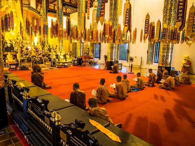 Inside the Wat at Chedi Luang, Chiang Mai