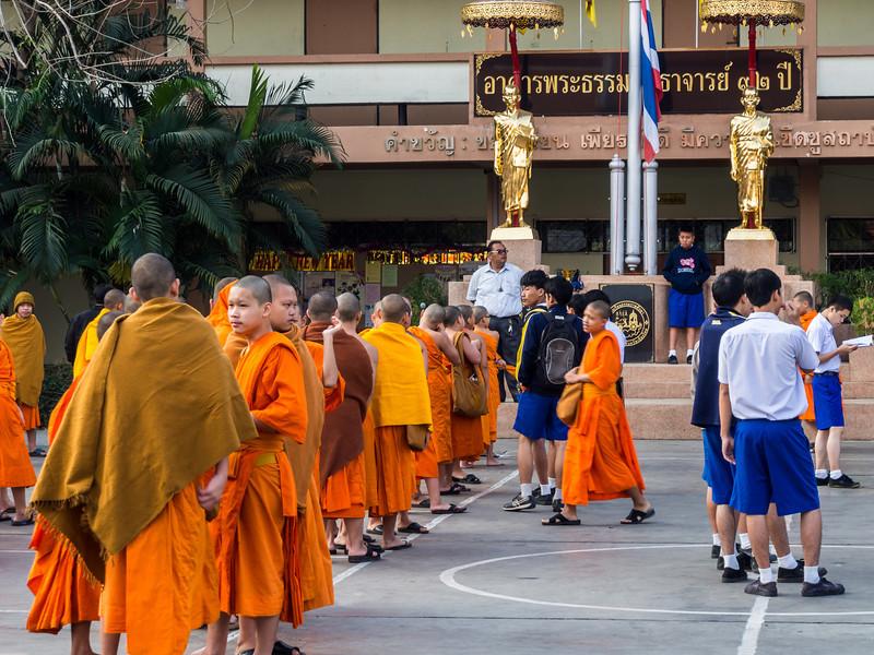 Morning at School, Wat Phra Singh, Chiang Mai