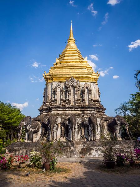 Elephant Stupa at Wat Chiang Man, Chiang Mai