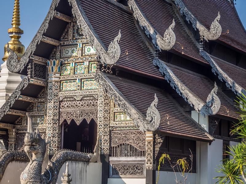 Temple Façade at Chedi Luang, Chiang Mai