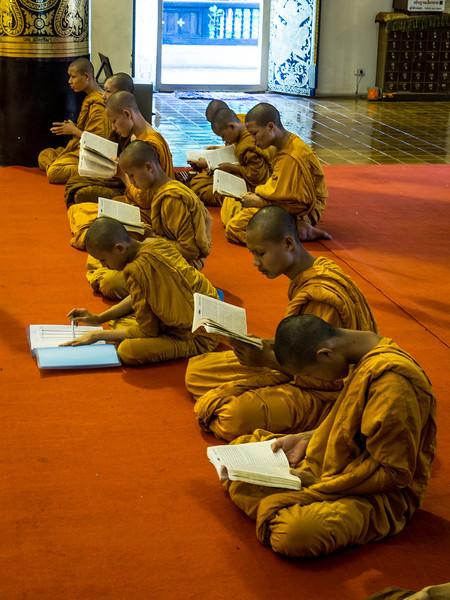 Chanting Monks at Chedi Luang, Chiang Mai