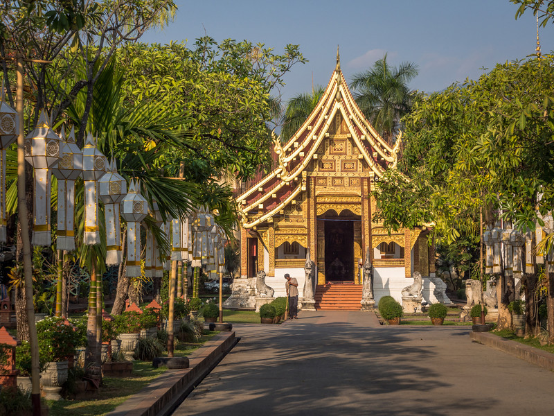 Lanterned Way, Wat Phra Singh, Chiang Mai